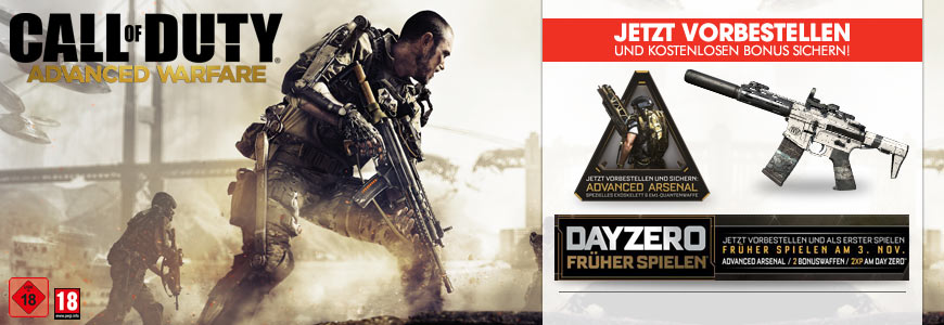 Call of Duty Advanced Warfare day zero edition jetzt vorbestellen