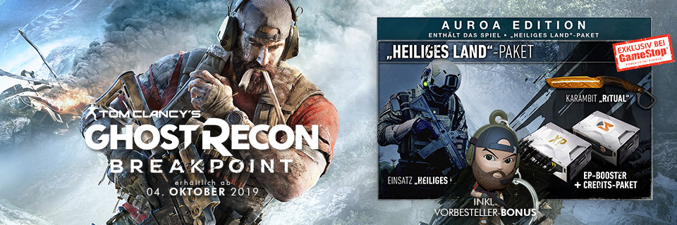 Tom Clancy's: Ghost Recon Breakpoint Auroa Edition exklusiv bei GameStop
